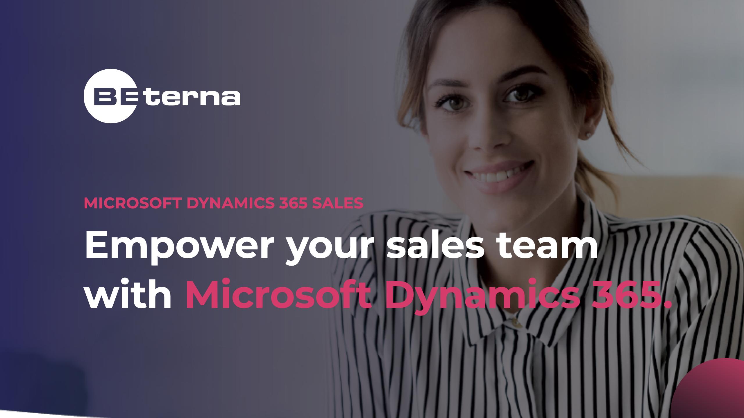 Dynamics 365 – Sales Quick Start