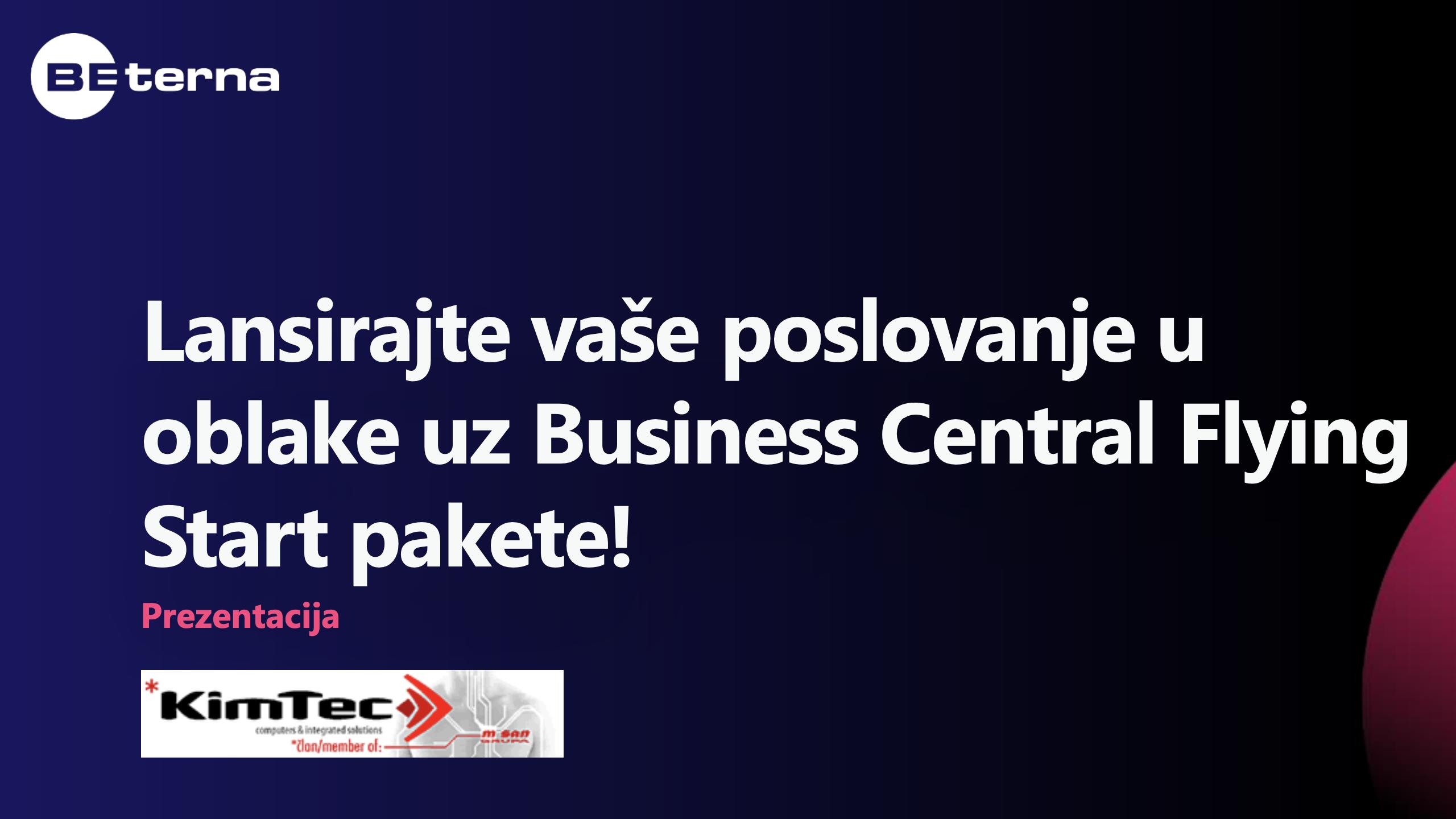 Business Central Flying Start – Sales presentation