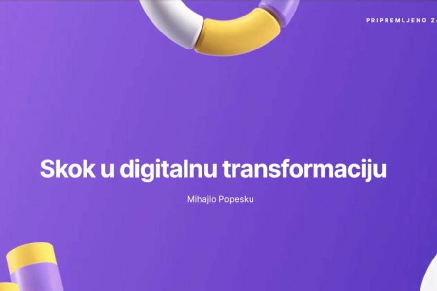Skok u digitalnu transformaciju – Dr Mihajlo Popesku, marketinški naučnik